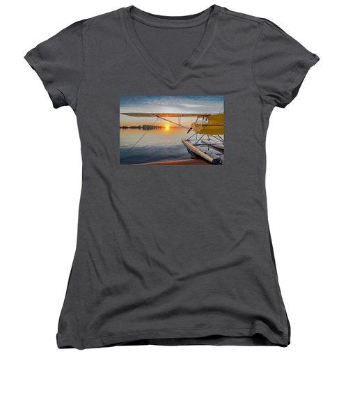 Sunrise Seaplane Women's V-Neck