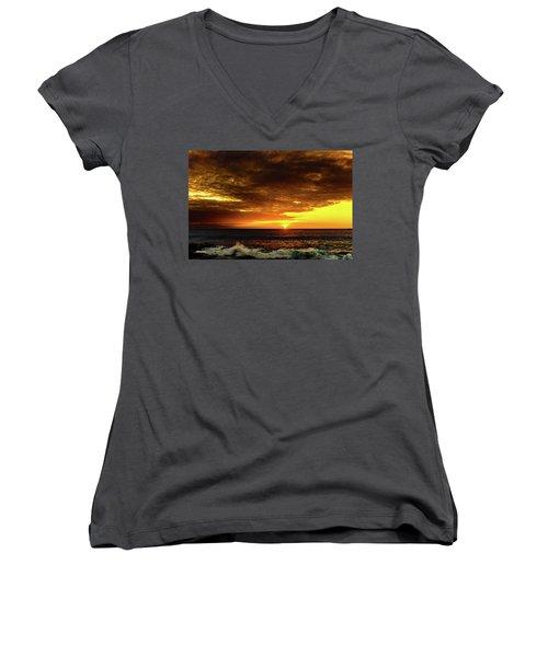 Sunset And Surf Women's V-Neck