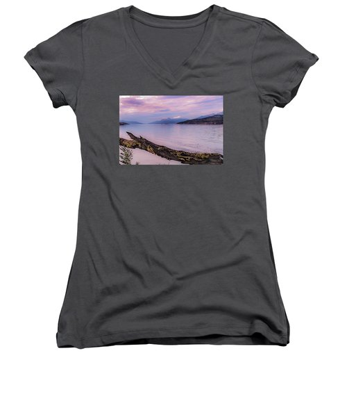 Sunset In Ushuaia Women's V-Neck