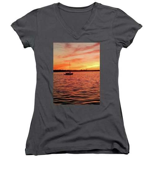 Sunset Sail Women's V-Neck