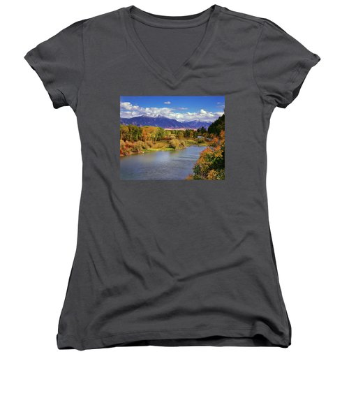 Swan Valley Autumn Women's V-Neck (Athletic Fit)