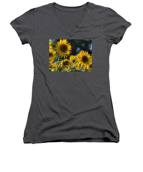 Sweet Sunflowers Women's V-Neck