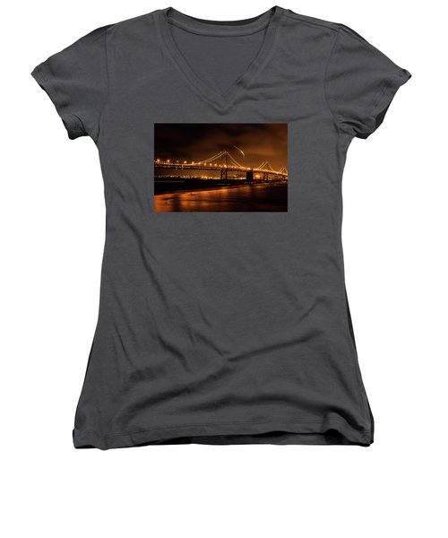 Women's V-Neck featuring the photograph Takeoff by Alex Lapidus