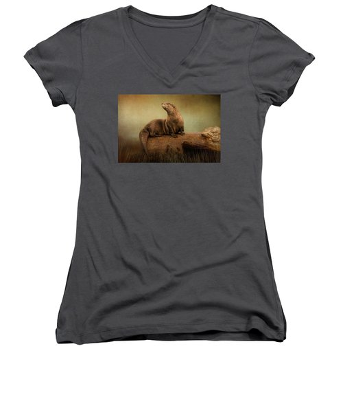Taking In The View Women's V-Neck