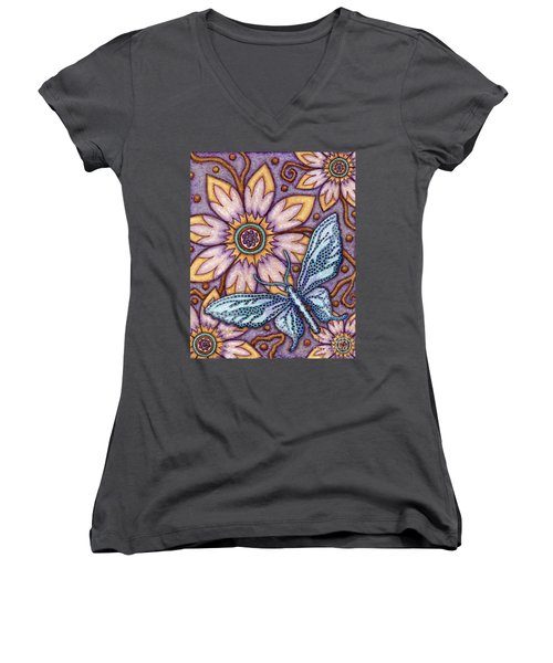 Tapestry Butterfly Women's V-Neck