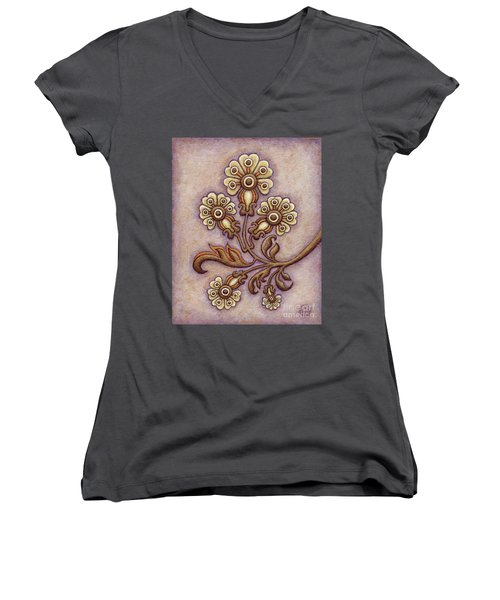 Tapestry Flower 4 Women's V-Neck