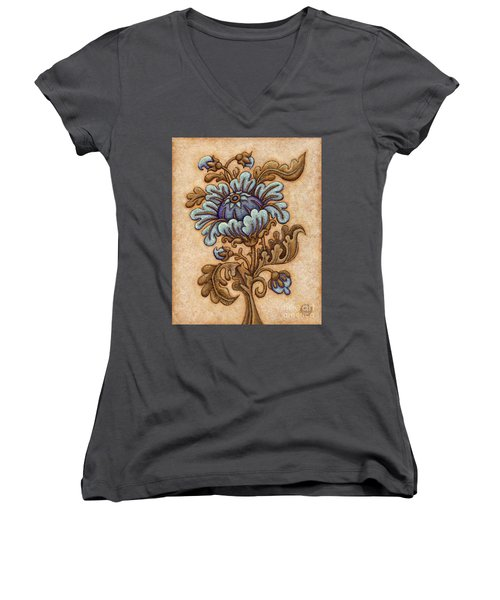 Tapestry Flower 5 Women's V-Neck