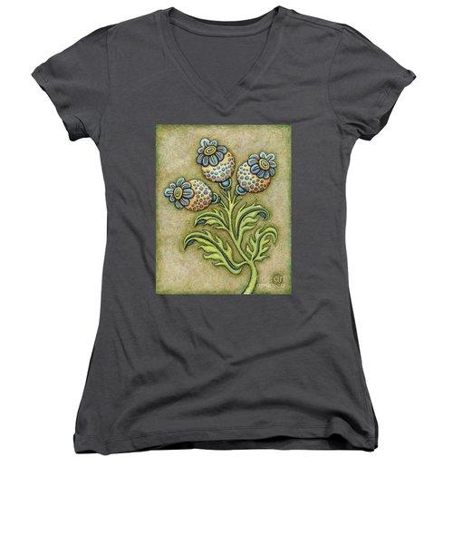 Tapestry Flower 6 Women's V-Neck