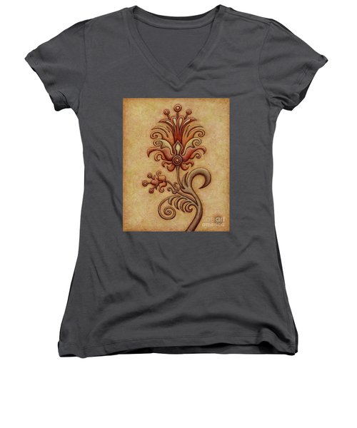 Tapestry Flower 7 Women's V-Neck