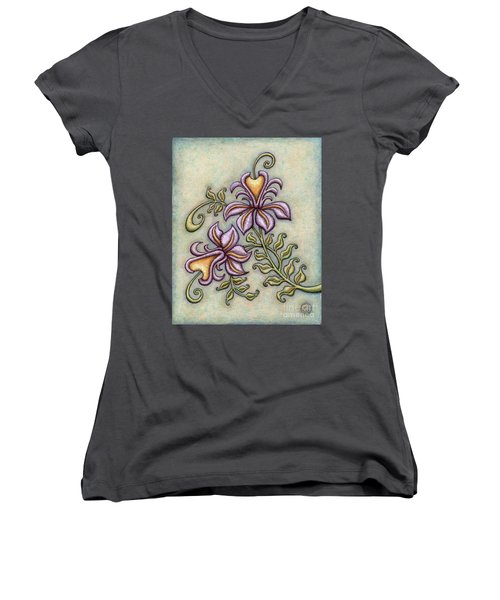 Tapestry Flower 8 Women's V-Neck
