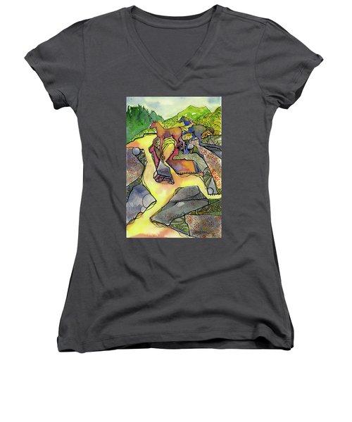 Tevis Ponies Women's V-Neck