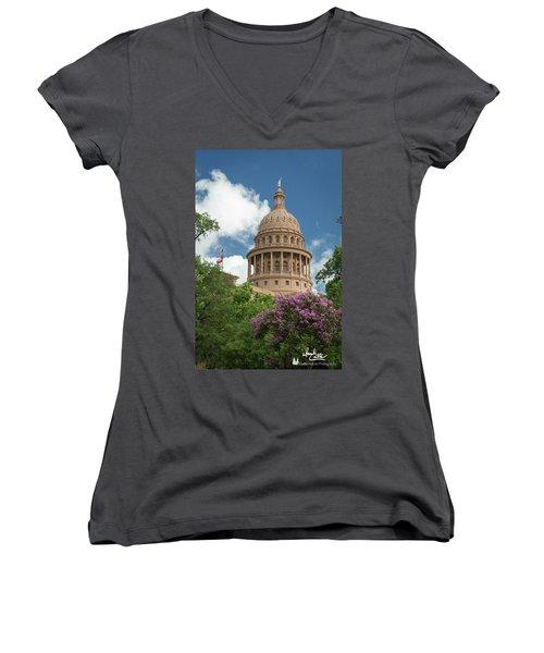 Texas Capital Building Women's V-Neck
