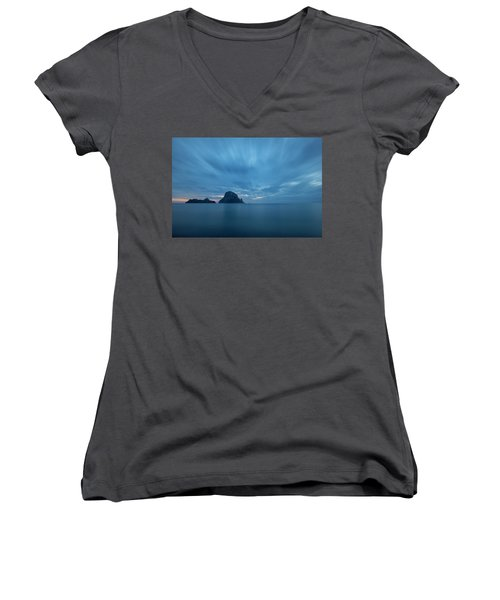 The Blue Hour In Es Vedra, Ibiza Women's V-Neck