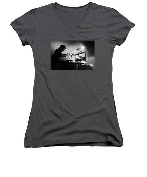 The Drummer Women's V-Neck (Athletic Fit)