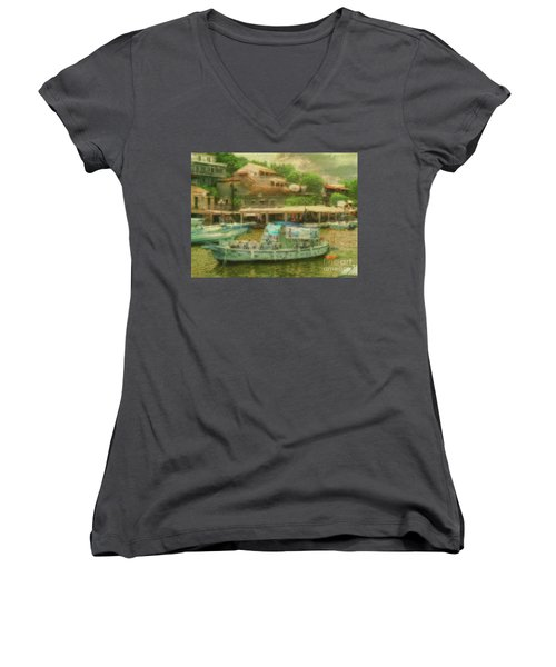 Women's V-Neck featuring the photograph The Essence by Leigh Kemp