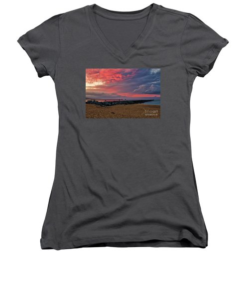 The Last Sunrise Of 2018 Women's V-Neck