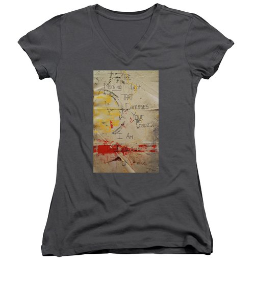The Morning Light That Caresses Your Face I Am Jealous Of Women's V-Neck