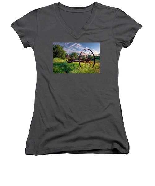 The Old Hay Rake 2 Women's V-Neck