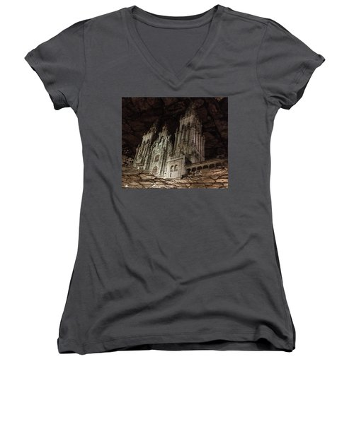 Women's V-Neck featuring the photograph The World At Your Feet by Alex Lapidus