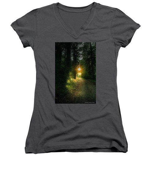 There Is Always A Light Women's V-Neck