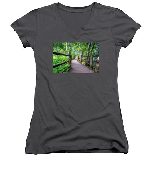 Trail At Gooseberry Falls Women's V-Neck