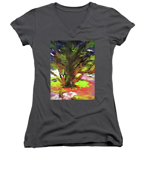 Tree With The Open Arms Women's V-Neck (Athletic Fit)