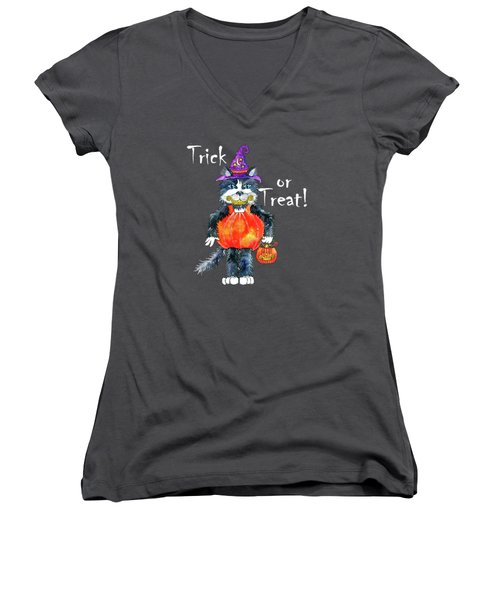 Trick Or Treat Women's V-Neck (Athletic Fit)