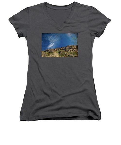 Tuscon Clouds Women's V-Neck