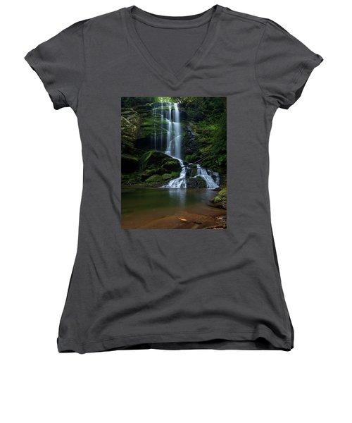 Upper Catawba Falls, North Carolina Women's V-Neck