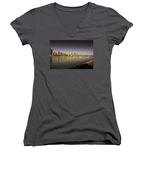 Vancouver In Magical Hours Women's V-Neck