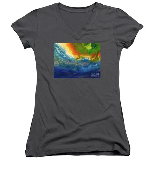 View From Space Women's V-Neck