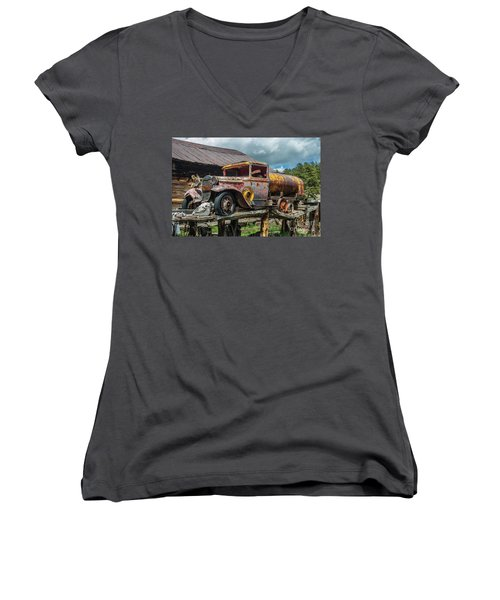 Vintage Ford Tanker Women's V-Neck