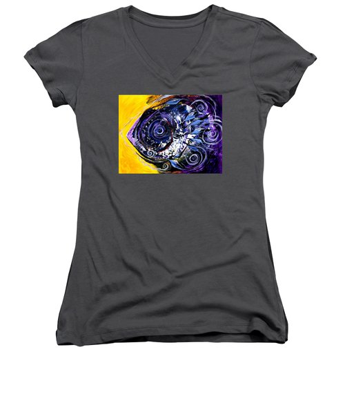 Violet Tri Fish Women's V-Neck