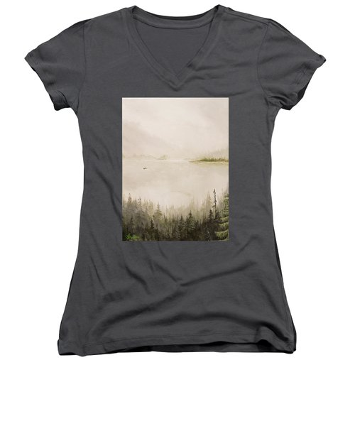 Waiting For The Eagle To Come Women's V-Neck