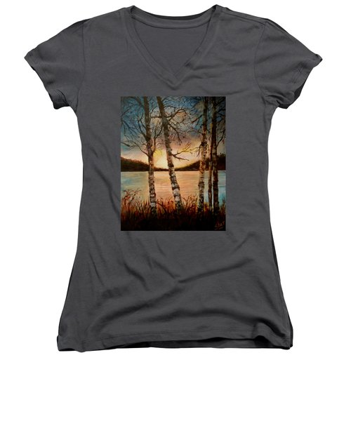 Warm Fall Day Women's V-Neck (Athletic Fit)
