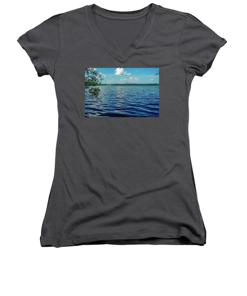 Waves On Lake Harriet Women's V-Neck
