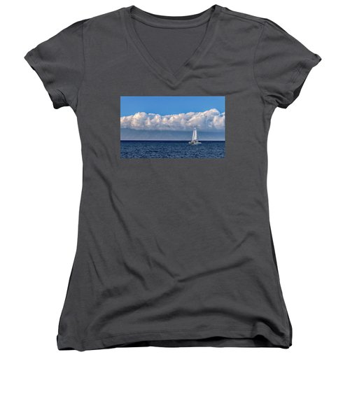 Whale Watching Women's V-Neck