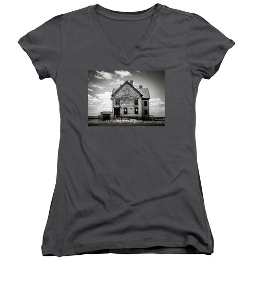 Women's V-Neck featuring the photograph What Remains by Steve Stanger