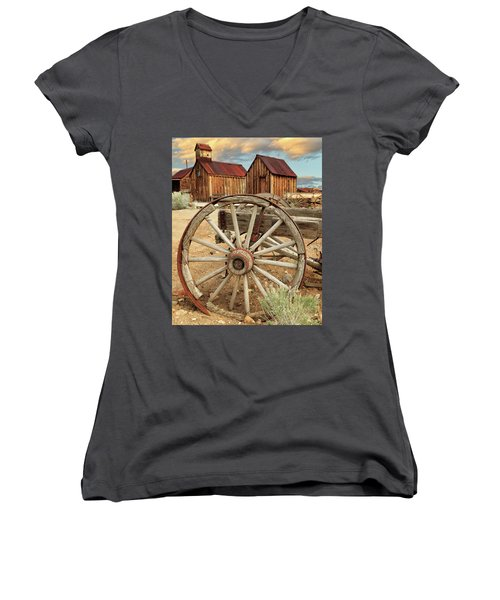 Wheels And Spokes In Color Women's V-Neck