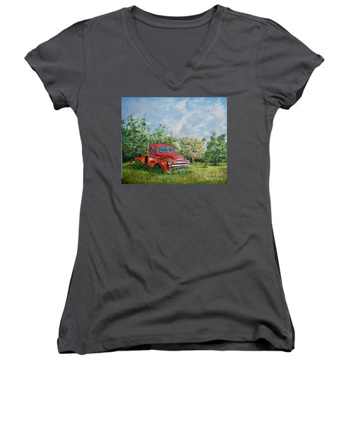 Where Are They? Women's V-Neck