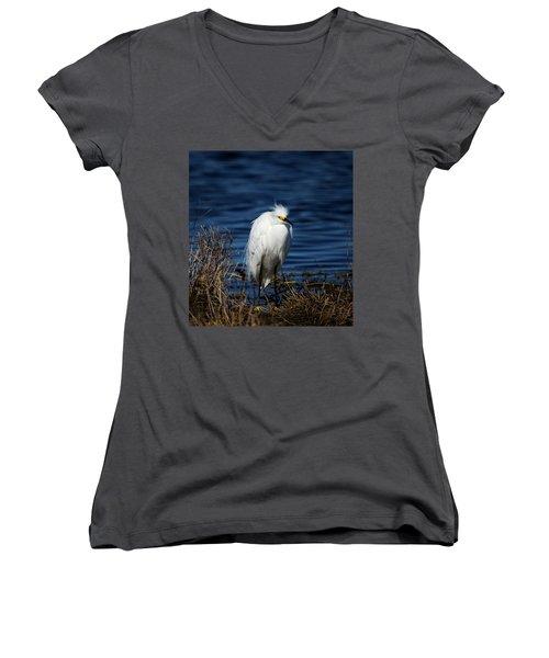 White Egret Women's V-Neck