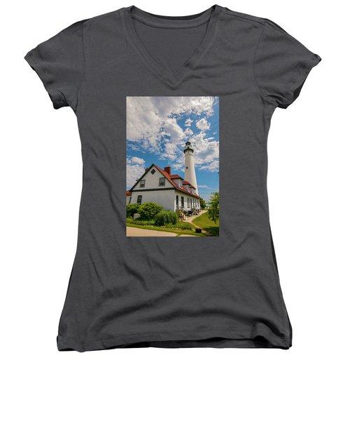 Wind Point Lighthouse No. 2 Women's V-Neck