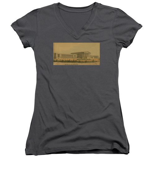 Winning Competition Entry For Girard College Women's V-Neck