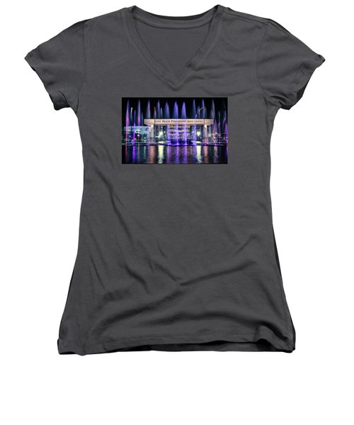 Winter At Long Beach Performing Arts Women's V-Neck