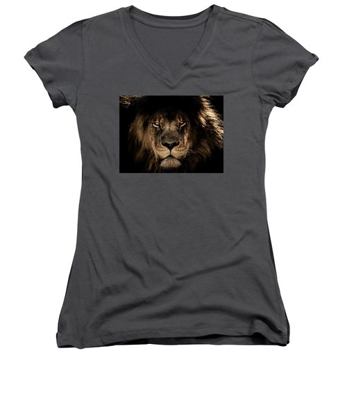 Wise Lion Women's V-Neck