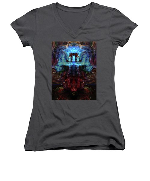 Yoga Statue Women's V-Neck