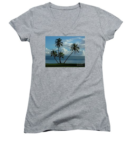 A Little Bit Of Paradise Women's V-Neck T-Shirt (Junior Cut) by Vivian Christopher