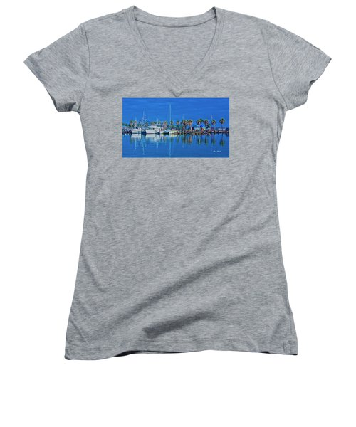 Blue Morning  Women's V-Neck (Athletic Fit)