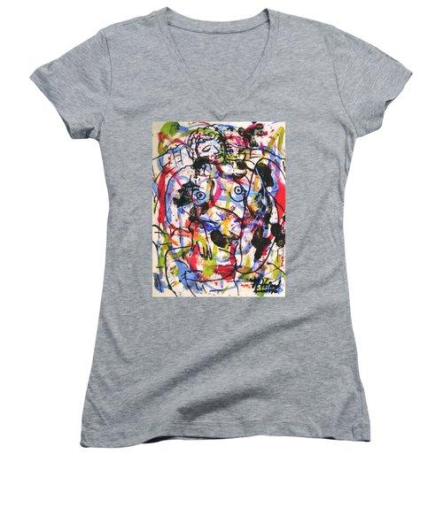 Erotic Nude Women's V-Neck T-Shirt