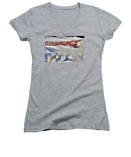 Fence Sculpture Women's V-Neck T-Shirt
